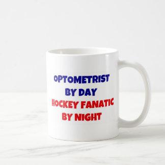 Optometrista del fanático del hockey del día por taza de café
