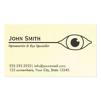 Optometrista del ojo simple y tarjeta de visita de