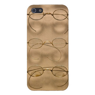 Optometrista - marcos simples del oro iPhone 5 fundas