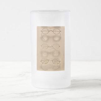 Optometrista - marcos simples del oro jarra de cerveza esmerilada