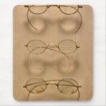 Optometrista - marcos simples del oro alfombrilla de raton