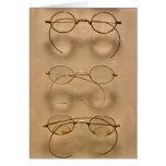 Optometrista - marcos simples del oro tarjetón