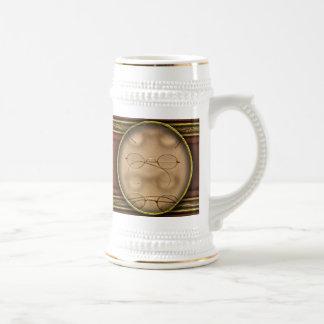 Optometrista - marcos simples del oro taza de café