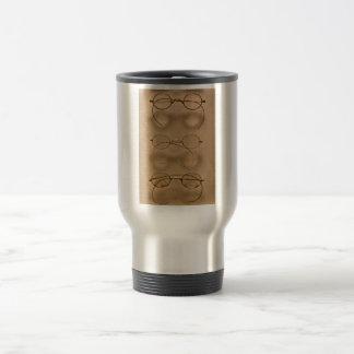 Optometrista - marcos simples del oro tazas de café