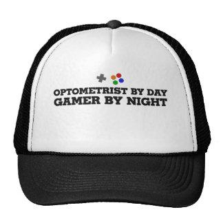 Optometrista por videojugador del día por noche gorro de camionero