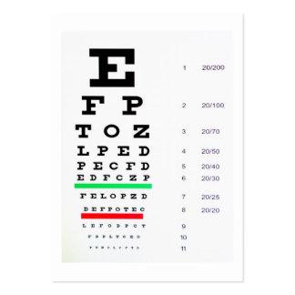 optometrista tarjeta personal