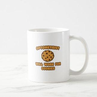 Optometrista. Trabajará para las galletas Taza De Café