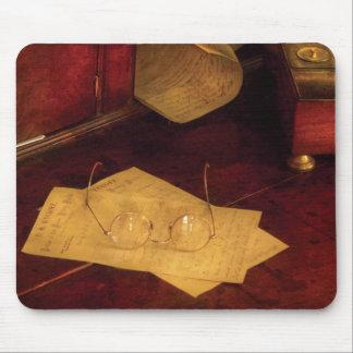 Optometrista - vidrios de lectura alfombrillas de raton