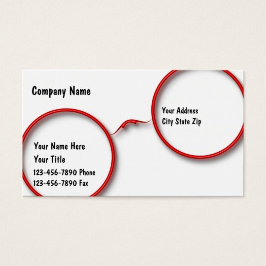 Optometry business cards zazzle optometry business cards colourmoves