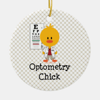 Optometry Chick Ornament