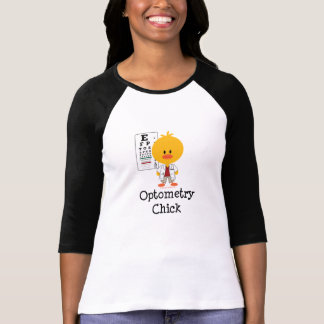 Optometry Chick Raglan Tshirt