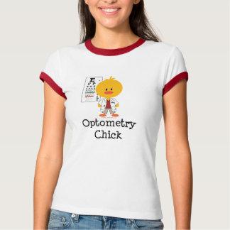 Optometry Chick Ringer Tee