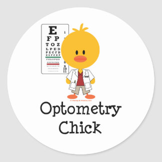 Optometry Chick Stickers