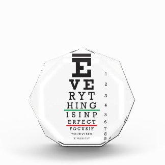 Optometry Eye Chart Acrylic Award