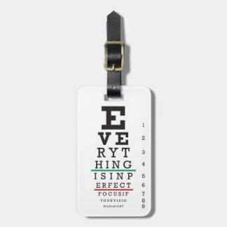 Optometry Eye Chart Bag Tag