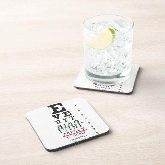 Optometry Eye Chart Beverage Coaster