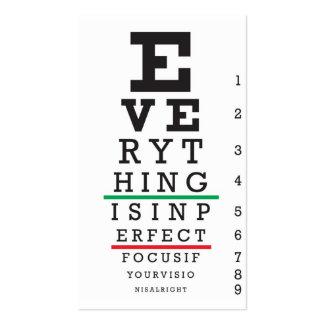 Optometry Eye Chart Business Card