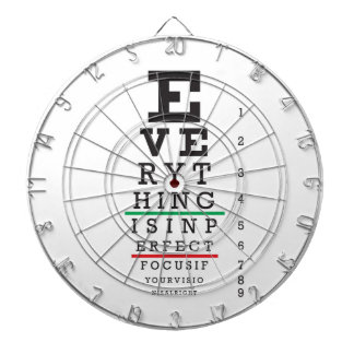 Optometry Eye Chart Dart Board