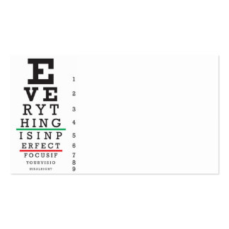 Optometry Eye Chart Illustration Business Card