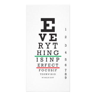 Optometry Eye Chart Illustration Card