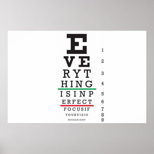 Optometry Eye Chart Illustration Poster