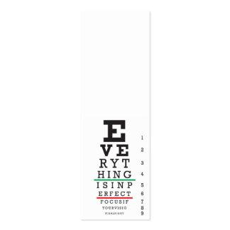 Optometry Eye Chart Mini Business Card