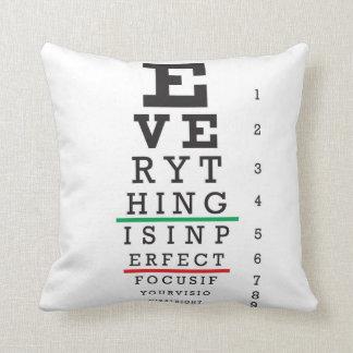 Optometry Eye Chart Throw Pillows