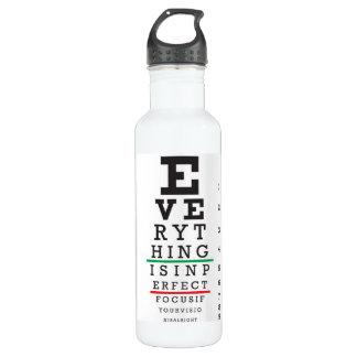 Optometry Eye Chart Stainless Steel Water Bottle