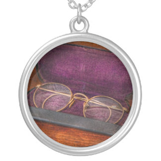 Optometry - Has anyone seen my glasses Round Pendant Necklace