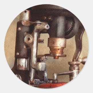 Optometry - Lens cutting machine Classic Round Sticker