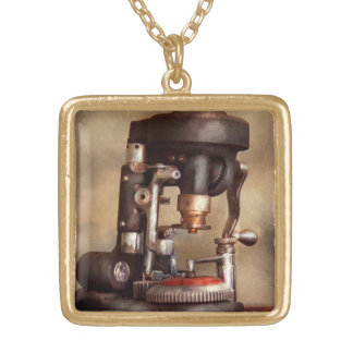 Optometry - Lens cutting machine Square Pendant Necklace