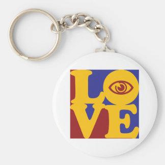 Optometry Love Basic Round Button Keychain