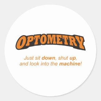 Optometry / Machine Classic Round Sticker