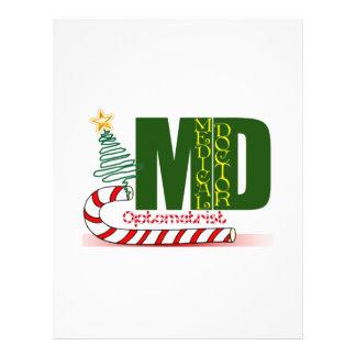 OPTOMETRY MERRY CHRISTMAS EYE DOCTOR LETTERHEAD