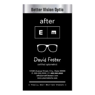 Optometry Optometrist Ophthalmologist Optical Shop Double-Sided Standard Business Cards (Pack Of 100)