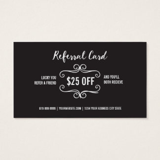 Optometry Referral Business Card