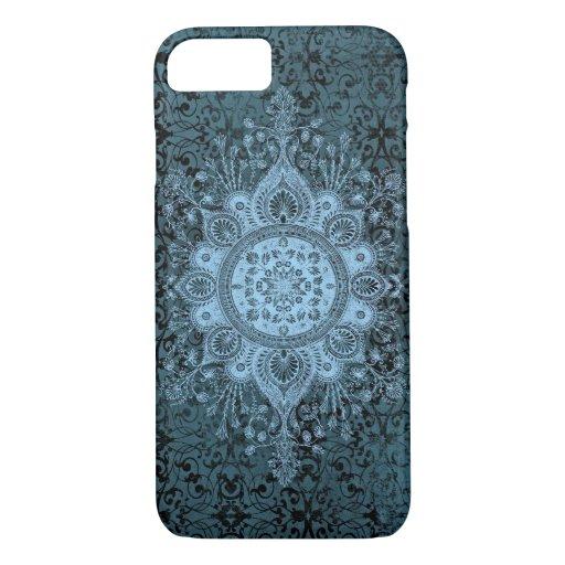 OPULENCE DAMASK: ROMANTIC MIDNIGHT BLUE iPhone 8/7 CASE