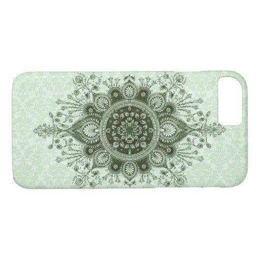 OPULENCE DAMASK: SOFT SAGE GREEN iPhone 8/7 CASE