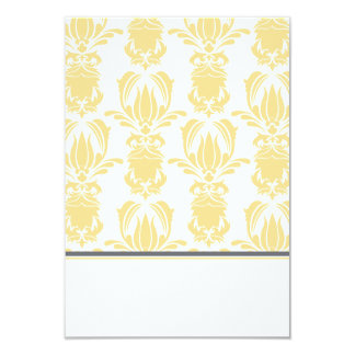 Opulent Damask Foldable Placecard Card