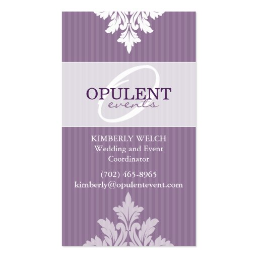 Opulent Event Custom Business Card