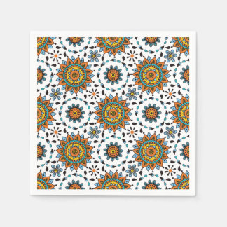 Opulent Maharaja India Star Flower Pattern Napkin