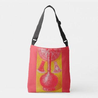 opulent mid-Victorian print decanter and... Crossbody Bag