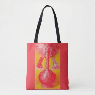 opulent mid-Victorian print decanter and... Tote Bag