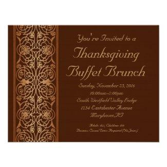 Opulent Thanksgiving Dinner or Buffet Invitations