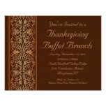 Opulent Thanksgiving Dinner or Buffet Invitations