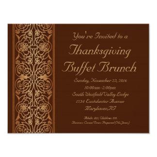 "Opulent Thanksgiving Dinner or Buffet Invitations 4.25"" X 5.5"" Invitation Card"