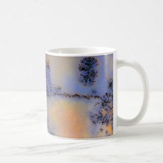 Opus australiano 2 de la ágata de musgo taza