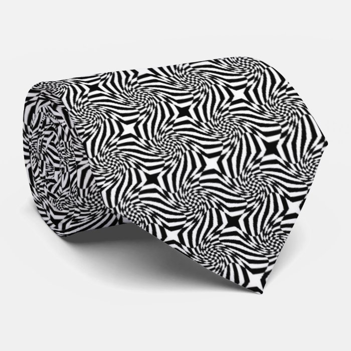 OPUS Black and White Optical Tie