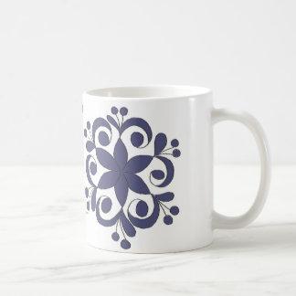 OPUS Blue Hungarian Flower Embroidery Coffee Mug