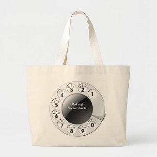 OPUS Call the Man! Large Tote Bag